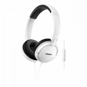 AURICULAR PHILIPS ON EAR SHL5005WT/00  BLANCO MIC, CABLE 1.2M