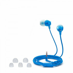 AURICULAR SONY MDR-EX15AP BLUE C/MIC.